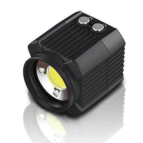 Festnight Mini Lumières LED Etanches Phares de Photographie Rechargeables pour L'éclairage de Vélo de Photographie sous Marine pour Les Téléphones Intelligents Gopro Drone Bike Sports Digital Camera