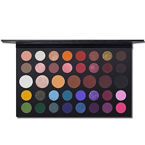 artiste palette ombre à paupières poudre makeup palette 39 couleurs shimmer matte glitter. imperméable cosmétiques, kit