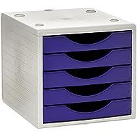 Archivo 2000 Archivotec Serie 4006 - Pack de 5 cajones, color malva