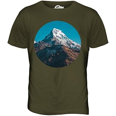 CandyMix Himalaya Montagna T-Shirt da Uomo Maglietta - Blur Oliva