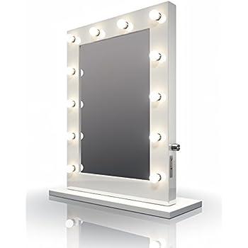 Weißer Hochglanz Hollywood Theater-Garderobe LED-Schminkspiegel k113CW