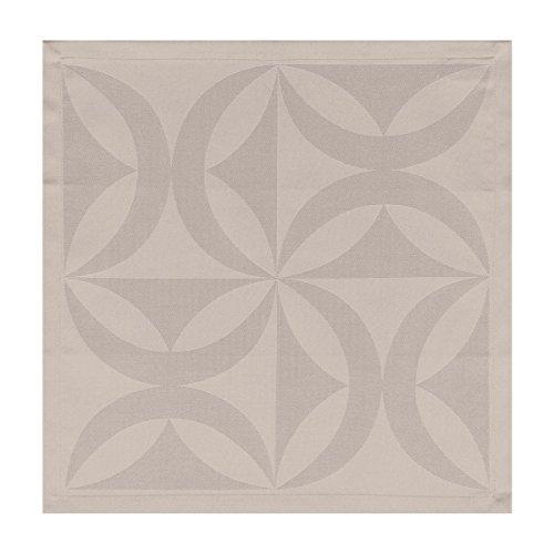 Le Jacquard Francais Serviette Ellipse Coton Fleur de sel Carré 47 x 47 cm