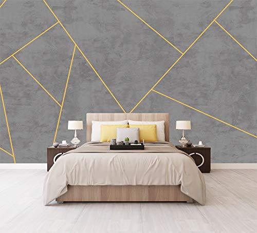 LANYU Carta da Parati Effetto Cemento Carta da Parati Geometrica Camera da Letto 3D Sfondo Muro Dipinto 3D Foto Muro Dipinto Adesivo di Carta, 250 * 175 Cm