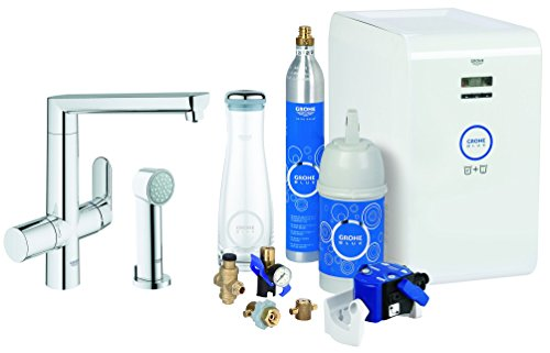 GROHE BLUE K7 CHILLED & SPARKLING - GRIFO (30 1 CM  30 1 CM  23 1 CM  100 BLUE K7 CHILLED & SPARKLING - 240V  50 BLUE K7 CHILLED & SPARKLING - 60 HZ) CROMO