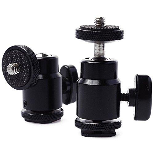 XCSOURCE-2x-360-Metallo-Mini-testa-a-sfera-14-Montaggio-a-vite-per-Canon-Nikon-Camera-Tripod-Hot-Shoe-DC482