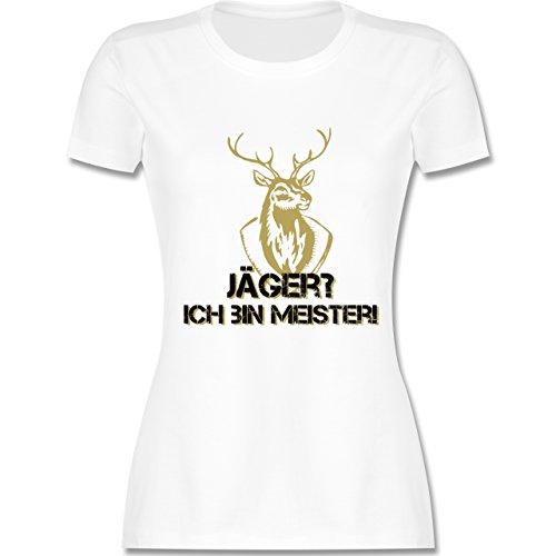 Après Ski - Jäger? Ich bin Meister! - tailliertes Premium T-Shirt mit Rundhalsausschnitt für Damen Weiß