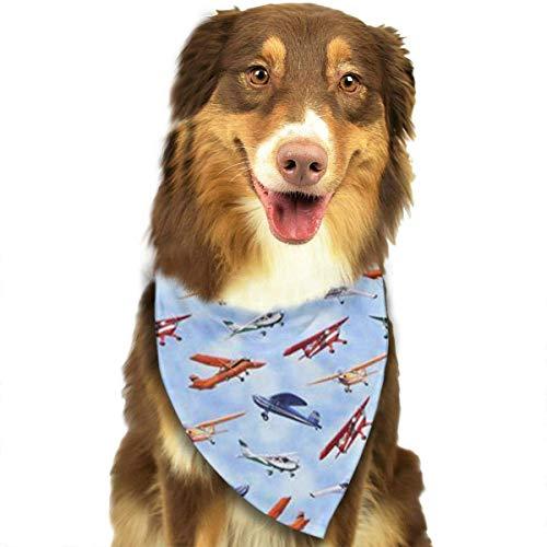 Wfispiy Various Planes Pattern Fashion Pet Bandanas Dog Car Neck Scarf for Unisex Pet Boy Girls