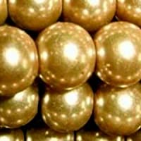 100pièces 8mm Perles en verre–Brun doré–A1010