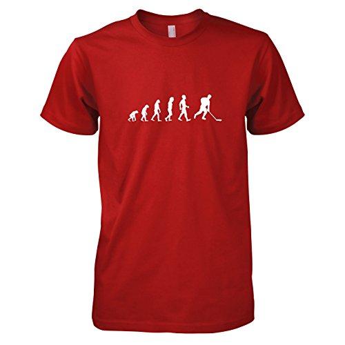 Eishockey Evolution - Herren T-Shirt, Größe L, rot