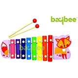 [Sponsored]Baybee Cartoon Animal Premium Wooden Xylophone / Hand Knock Piano -Musical Toy (Cartoon Characters May Varry)