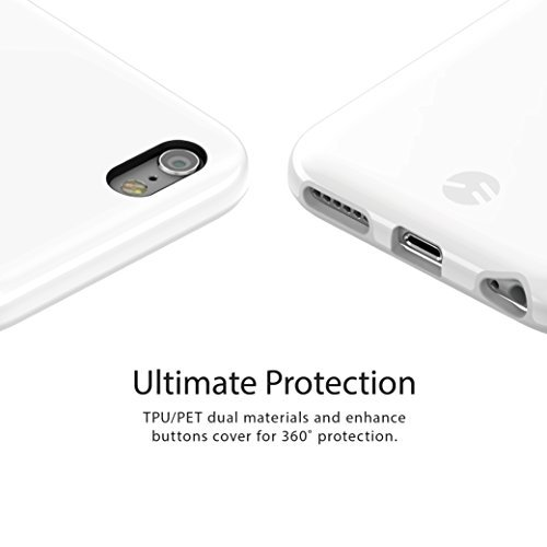 SwitchEasy AP-21-145-11 N+ Hybrid Dual-Farben schützende TPU Fall für Apple iPhone 6S schwarz Weiß