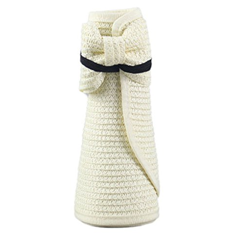 Grande capeline Floppy Sun Hat Topless Straw Sun Hat blanc crémeux