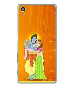 PrintVisa Designer Back Case Cover for Sony Xperia Z5 (radhe krishan symbol of love)