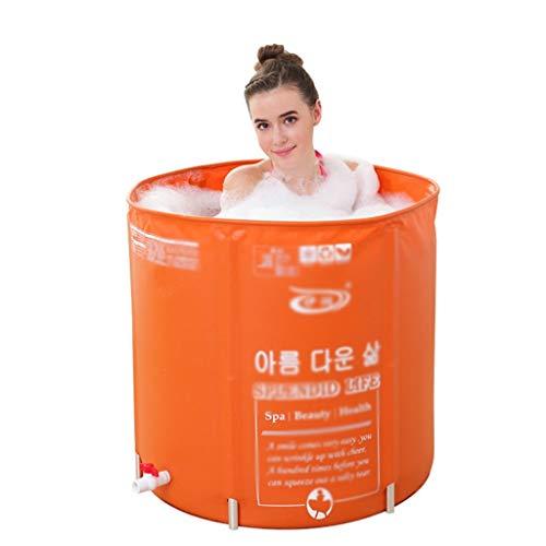 Faltbare aufblasbare runde Badewanne, PVC-Portable Faltbare aufblasbare Badewanne Freistehende Badewanne mit Unterstützung, höhenverstellbares Thermalbad, Verdickung mit Thermalschaum, um Temperatur z