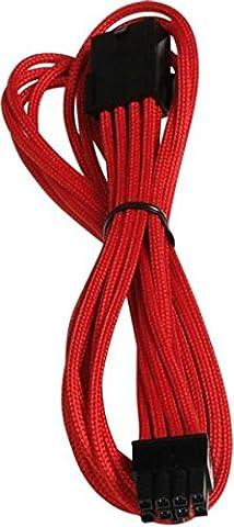 Bitfenix BFA-MSC-8PEG45RK-RP Câble de Rallonge 45 cm Rouge/Noir