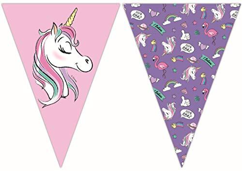 e Disney Minnie Mouse mit Einhorn, Unicorn aus Papier, rosa, lila ()