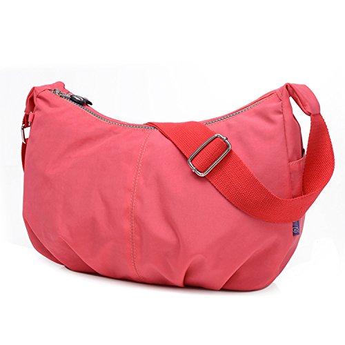 Outreo Umhängetasche Kleine Schultertasche Leichter Wasserdicht Designer Messenger Bag Sporttasche Mode Taschen Damen Kuriertasche für Mädchen Rot 1