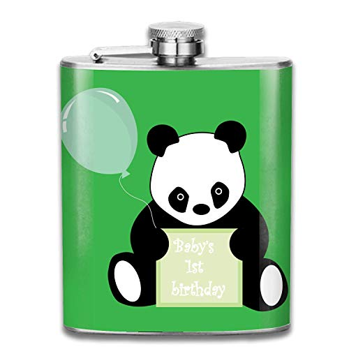 Stainless Steel Flask Ballon Panda Whiskey Flask Vodka Alcohol Flask Hip Flask for Men Multicolor9 12 Oz Ballon