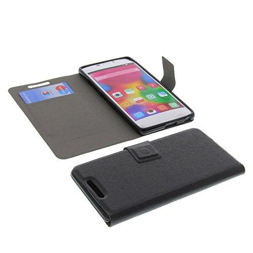 foto-kontor Tasche für Gionee Elife S5.1 Book Style Ultra-dünn Schutz Hülle Buch Schwarz