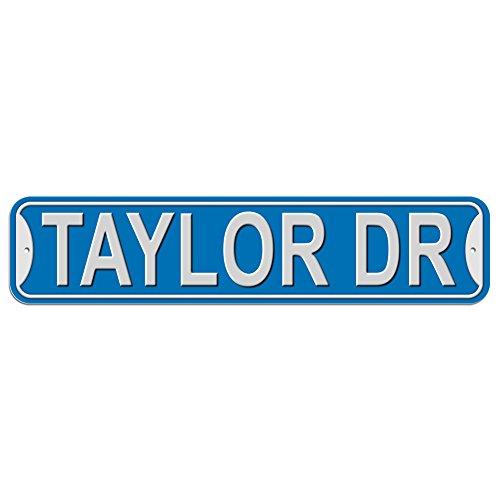 Taylor Schild–Kunststoff Wand Tür Street Road Stecker Name, plastik, blau, Drive