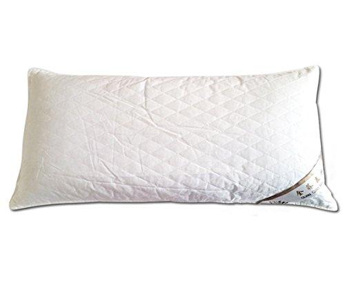 GXSCE Cotton buckwheat pillow,Memory-Foam-Nackenkissen, hypoallergen & Staub Milbe Resistant White, Anti-Schnarch zu Prime Soft Supportive Komfortable waschbare Schlaf-Kissen