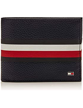 Tommy Hilfiger - Block Stripe Extra Cc Coin Stp, Carteras Hombre, Azul (Tommy Navy), 1.5x9.8x13 cm (B x H T)