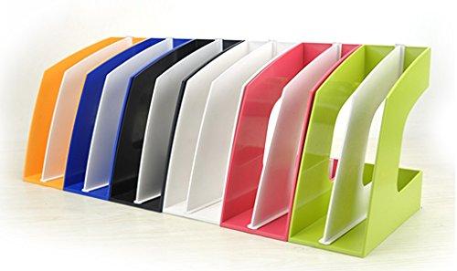 Libro, Soporte Acabado Clip Archivo Estantería Oficina Blanco Azul ( Color : #4 )