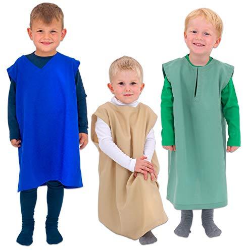 Hirten Krippenspiel Kostüm Für - Betzold 58516 - Hirten, 3er-Set - Kinder-Kostüm für Krippenspiel und Rollenspiel, Überziehkostüm