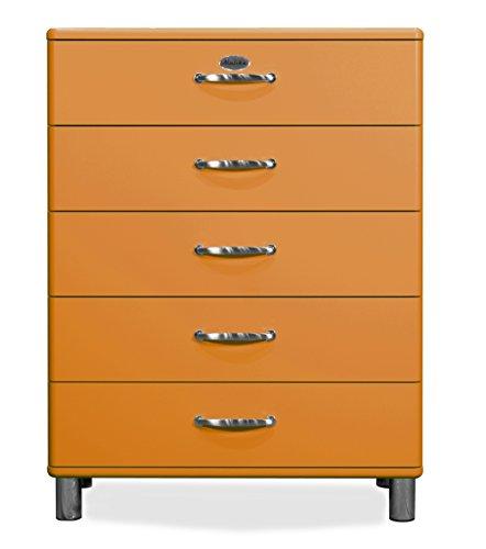 Tenzo 5295-017 Malibu Designer Kommode, 111 x 86 x 41 cm, MDF lackiert, orange