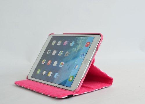 inShang ipad Pro 12.9 inch Hülle Cover für iPad Pro 12.9 inch (2015) , PU Leder Schutzhülle St?nder Smart Cover mit Super Automatische Einschlaf-/Aufwach funktion, case 360 Grad rotierende Schutzhülle Polka polka rose red