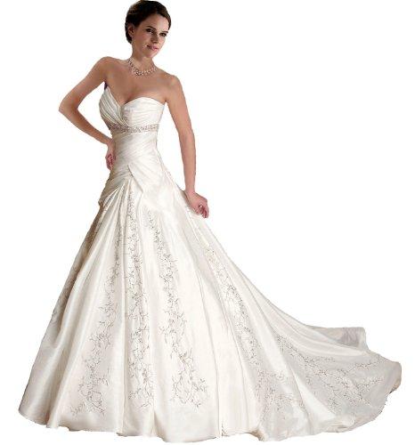 Faironly Hochzeitskleid Weiß / Elfenbeinfarben Brautkleid Nj5 Weiß - Weiß