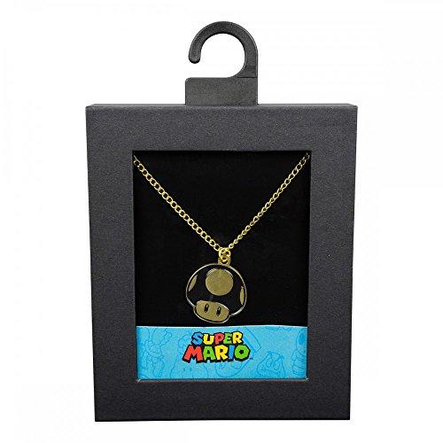 Nintendo - 1-Up-Pilz - Halskette | Original lizensiertes Merchandise | Gold