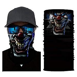 ngPingShiX fehlerfreies Multifunktions-Hip Hop Totenkopf Outdoor Sport Reiten Schal Lustige Gesichtsmaske Winddicht Halten Warm