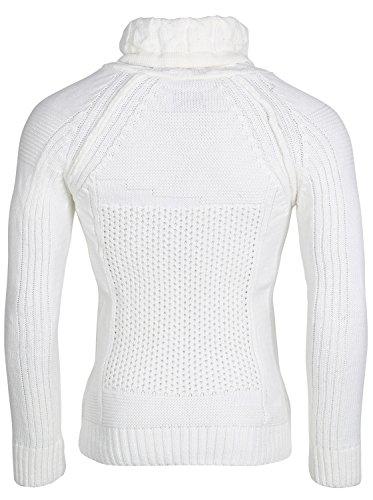 TAZZIO Herren Pullover Strickjacke Jacke Größen S-XXL Weiß