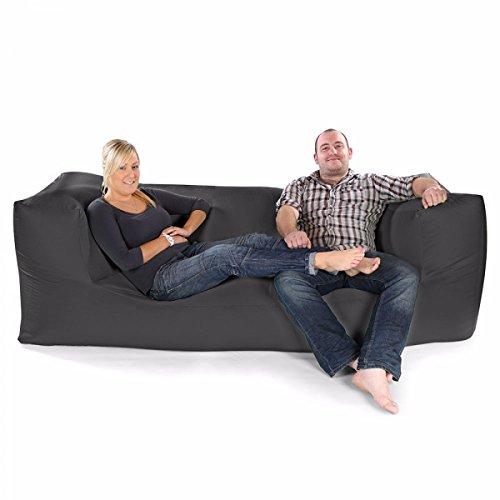 rucomfybeanbags Bequeme Feste Modulare Dreisitzer Sitzsack-Grau