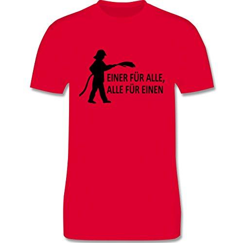 Feuerwehr - Einer für alle, alle für einen - Herren Premium T-Shirt Rot
