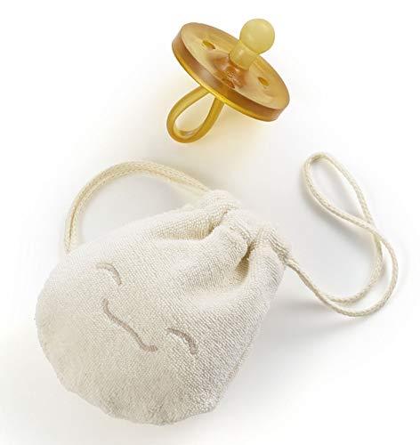 ✪ Natursutten PaciPouch Schnullertäschchen   100% Bio Baumwolle   Schnullerbox   Für einen sauberen Schnuller unterwegs   waschbar