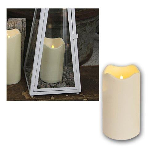 LED Bougie, Hauteur 18cm,avec Timer, Ø10cm, pour Dehors