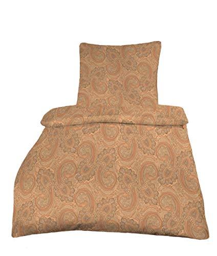 Estella Paisley Bettwäsche Mako Interlock Jersey Artikel: 6022 Fb: Lachs 390 Größe 135x200 cm + 80x80 cm