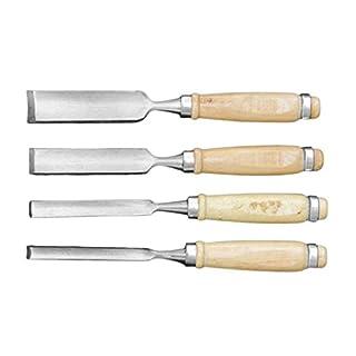 MUANI 4PCS / Set 250mm Solarplexus Set Holzschnitzerei Meißel Werkzeugschneide Breite Hand DIY Holzbearbeitung Schnitzen