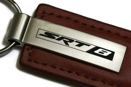 dantegts-dodge-charger-challenger-mangum-srt8-braun-leder-schlusselanhanger-authentic-logo-kette-key