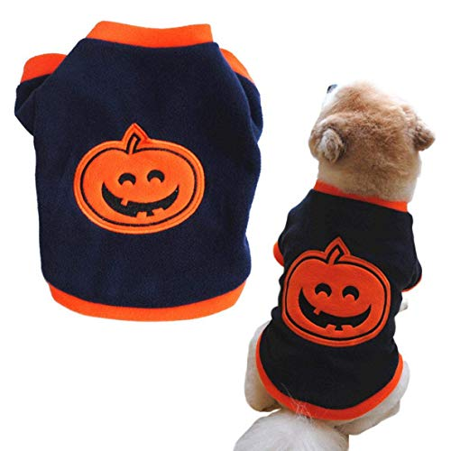 Lustig Haustier Cosplay Kostüm Welpe Fleece Kapuzenpullover Kleidung Welpe Verkleidung Party Halloween Fest Aktivität Apparel - Marineblau, Small ()