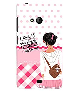 PrintVisa Stylish Cool Girl Quotes 3D Hard Polycarbonate Designer Back Case Cover for Nokia Lumia 540