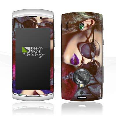 DeinDesign Folie kompatibel mit Sony Ericsson Vivaz Pro Aufkleber Skin aus Vinyl-Folie Woman Frau Sonnenbrille