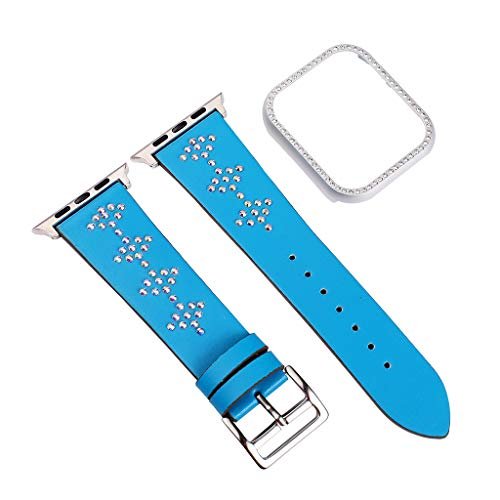 Webla Armband Geeignet für Deluxe Leder Ersatzarmband für Apple Watch 4 Series 42 / 44mm + 44mm Rahmen, Leder Deluxe Armband Fall