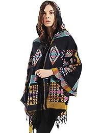 EOZY Femme Manteau Cape Echarpe Epaisse Poncho Capuche Couverture Chaud