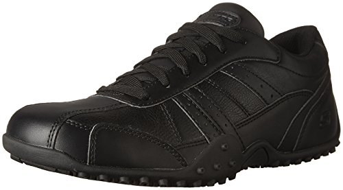 Skechers Work Mens Elston Relaxed Fit Slip Resistant Shoe Black