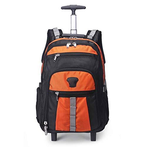 MXYXN Trolley Rucksack Laptop-Tasche Handgepäck Business-Taschensuper leichte Wasserdichte Reise Wheeled Rollen Trolley Lässige Daypack (Farbe : Orange) - Wheeled Laptop-tasche