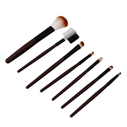 ODN Professionnel 7lot pinceaux maquillage trousse en cas exquisge Brush Set café