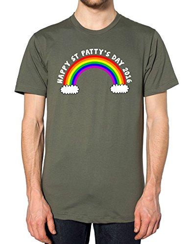 FunkyShirt St. Pattys Day Regenbogen T Shirt, Grün, StPattysDay-Tee-MILIGRN-Mens-XXL (Pattys Tag Tee)